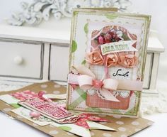 lilybean's paperie: smile today... - card and coordinating gift bag