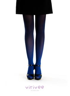 Perfect for a TARDIS costume!!Ombre tights blue-black on Etsy, $38.00