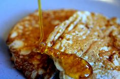 One of the best pancake recipes!  Cottage cheese pancakes! Great with apple syrup, or applesauce and great just plain!