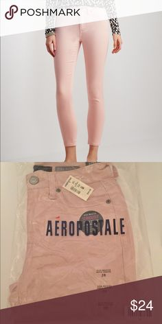 Seriously Stretchy Ankle Length High Waist Jegging NWT! Aeropostale Seriously Stretchy Ankle length high waisted jeggings. Soft material, color: Vital Pink. Sizes: 000R, 2R, 2R Aeropostale Jeans Skinny