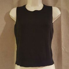 "Ann Taylor black top Great Ann Taylor top. Length 20"" bust 34"" size MP. 75% silk 25% cotton. Ann Taylor Tops"