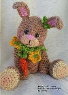 Simply Cute Bunny Crochet Pattern by Teri Crews