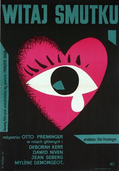 polish movie poster by wiktor gorka, 1961, for otto preminger's 'bonjour tristesse'