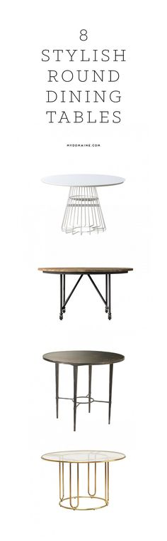 Stylish round dining tables.