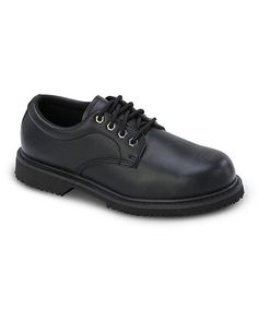 Black Leather Work Shoe