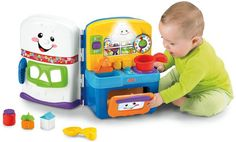Amazon.com: Fisher-Price Laugh & Learn Learning Kitchen Activity Center: Toys & Games $39.99