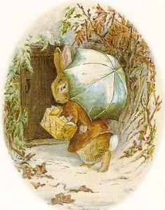 umbrellas by quenalbertini - Bunnies in Winter, Beatrix Potter illustr. - via beatrixpotter...