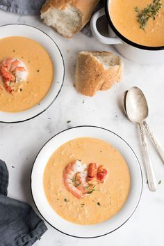 Shrimp and crawfish combined with cajun and old bay spices give this seafood bisque its fabulous flavor.
