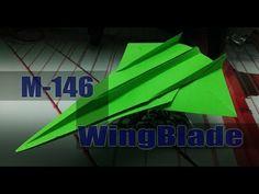 Avión de papel M-146 WingBlade - YouTube