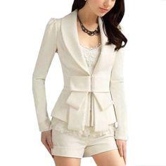 Allegra K Lady Shawl Collar Long Sleeve Hook Closure Blazer Jacket White. From #Allegra K. Price: $18.36