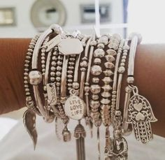 Silver Stack from https://instagram.com/bryonymaria #MyChloBoStack