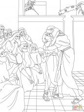 Joseph and potiphar Bible Coloring Pages Joseph and