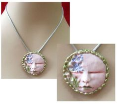 Iris Flower Goddess Pendant Necklace