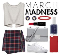 """march madness"" by xliliice44 ❤ liked on Polyvore featuring River Island, Puma, MICHAEL Michael Kors, Maison Takuya, Smashbox, Essie, Brooks Brothers and BaubleBar"