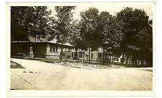 Ellicottville NY - HOUSES ALONG MAIN STREET - RPPC Postcard