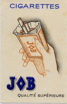 Cigarettes Job - vintage ad.