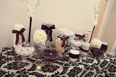 Love this Black and White Damask!