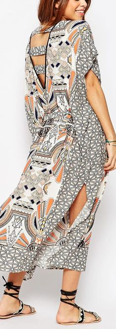 tribal kaftan maxi