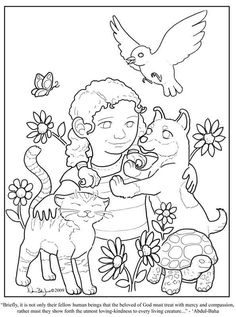 Kindness - Coloring Page