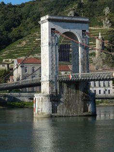 Tain-l'Hermitage (26. Drôme) - Rhône bridge / Rhônebrücke / Pont du Rhône