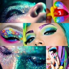 Love this colorful and glitter