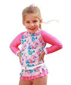 Look at this #zulilyfind! Pink Lemonade Zip-Up Jacket & Diaper Cover Set - Infant & Toddlers #zulilyfinds