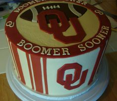 OU Football cake I want one with a graduation cap instead of football!  May 2013!