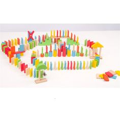 50.00$  Watch here - http://alib4f.worldwells.pw/go.php?t=32784017301 - Kid's Soft Montessori Wooden Domino Blocks Toy Set 150pcs colorful High quality early educational gift for children