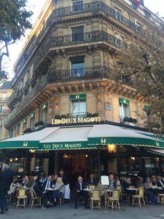 Les Deux Magots in Saint Germain #BrightLightsParis Book tour @LavieAnnRose