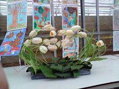 Thom de Regt Lente stuk vrije vorm. met franse tulpen!