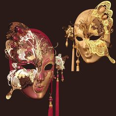 Volto Farbella by Blue Moon Mask butterfly Venetian masks