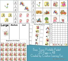 Many free educational printables. These activities are developed by a mom with degrees in education and psychology.
