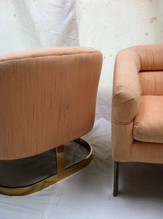 Mid mod pair 70's glam directional lounge occasional by goodluxe, $650.00