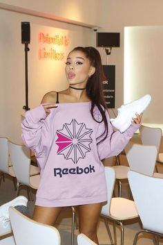Ariana Grande Opens Up On Self-Love, Teaming with Reebok & Non-Gender Style Ariana Grande Fotos, Concert Ariana Grande, Ariana Grande Reebok, Ariana Grande Cute, Ariana Grande Pictures, Ariana Grande Outfits Casual, Ariana Grande Height, Ariana Grande Honeymoon Avenue, Ariana Grande Smiling