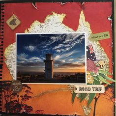Love the Open Road collection from Kaisercraft Scrapbook Page Layouts, Scrapbooking Ideas, Scrapbook Pages, Paper Cranes, Travel Album, Alice Springs, Travel Scrapbook, Layout Inspiration, Fiji