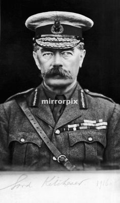 Head and shoulders portrait of Lord Kitchener. The famous recruiting poster featuring Lord Kitchener was based on this photograph. World War One, First World, Famous Freemasons, Cottage Kitchen Cabinets, Bedroom Wall Colors, Smitten Kitchen, Cabinet Makeover, British Army, Trends