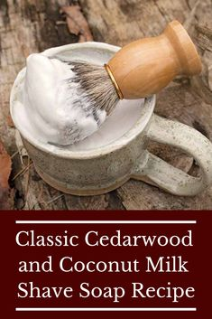 Classic Cedarwood and Coconut Milk Shave Soap Recipe - Wellness - Health Idea Shave Soap Recipe, Savon Soap, Mens Soap, Soap Making Supplies, Homemade Soap Recipes, Homemade Products, Goat Milk Soap, Home Made Soap, Homemade Beauty
