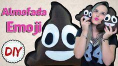 Almofada Cocôzinho Feliz - Emoji WhatsApp - DIY por Coisas de Jessika