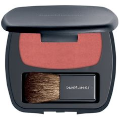 Bareminerals Ready Blush The Natural High (70 BAM) ❤ liked on Polyvore featuring beauty products, makeup, cheek makeup, blush, beauty, faces, 34. foundation & blush., mineral make up, red and womens-fashion