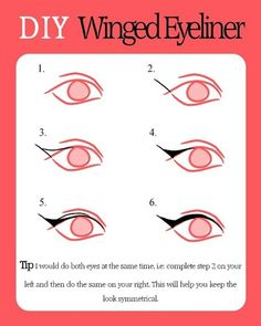 Get a perfect wing with ease. | 15 Easy Hacks For Perfect Eyeliner