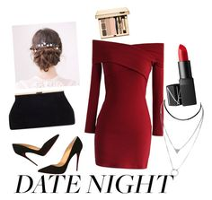 """""""date night"""" by cjflynn on Polyvore featuring Chicwish, Christian Louboutin and NARS Cosmetics"""