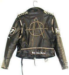 Vintage punk jacket I love my leathers