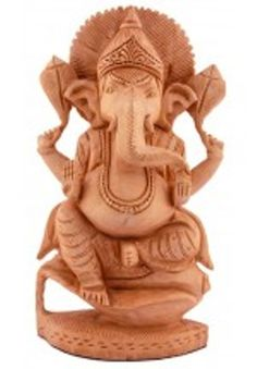 "Ganapati or Ganesha is the god of wisdom, who is also called Vighnesvara (""the lord presiding over obstacles""). In sculptures, Ganesha is always shown with a plump human body topped by the head of an elephant."