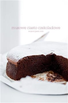 Musowe ciasto czekoladowe Polish Desserts, Polish Recipes, Chocolate Mousse Cake, Chocolate Brownies, Baking Recipes, Cake Recipes, Dessert Recipes, Delicious Chocolate, Delicious Desserts
