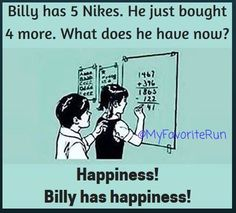 While I do have a ton of Nike, I mostly run in ASICS. But, it uses my name! How can I not repost?