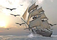 guiding the ship to sea