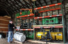 tractor implement storage ideas - Google Search