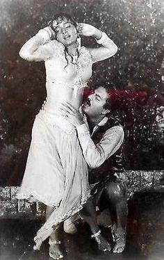 India Black & White Photograph Bollywood Actor/Actress Upasna Singh & Neeraj - http://art.goshoppins.com/photographs/india-black-white-photograph-bollywood-actoractress-upasna-singh-neeraj/