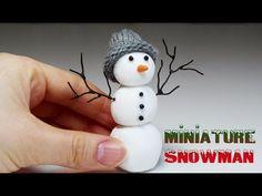 Miniature Snowman - Polymer Clay Tutorial - YouTube