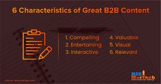 6 Characteristics of Great B2B Content  #fromwhereistand #wahm #entrepreneur #smallbusiness #socialmedia #socialmediamarketing #network #networkmarketing #success #goals #beyourself #advertise #contentmarketing #Digitalmarketing #SEO #blogging #marketing #branding #marketingtips #marketingstrategy #startup #b2bmarketing